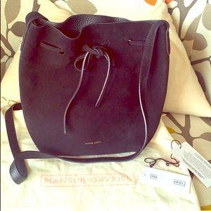 Mansur Gavriel Leather Bucket Purse Bag